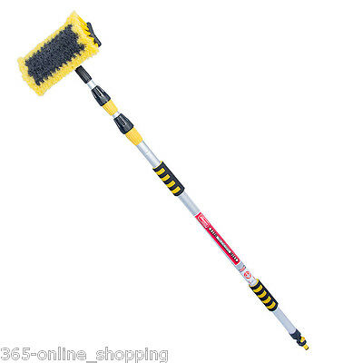 New 3M 9Ft Aluminium Telescopic Water Fed Window Car Van Wash Brush Extendable