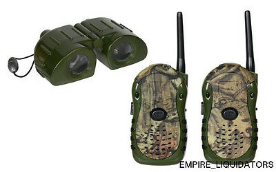 Kidz Toyz Mossy Oak Camo Walkie Talkies & Binocular Set MODEL 12005
