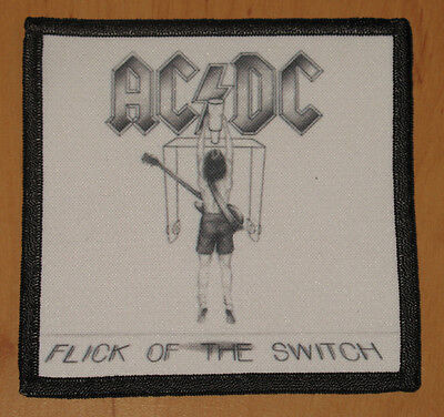 """AC/DC """"FLICK OF THE SWITCH"""" silk screen PATCH"""
