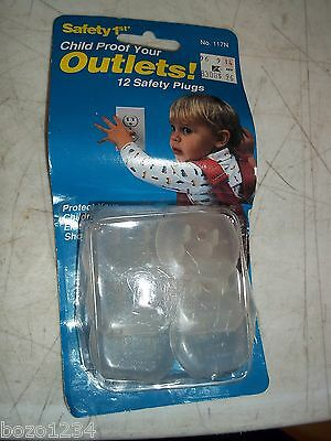 2 Bnip Safety 1St Outlet Plugs 12 Pack Child Proof #117N 24 Total In This Lot