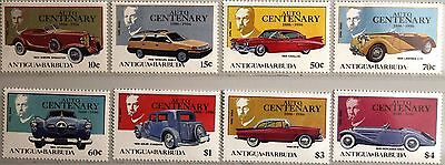 ANTIGUA BARBUDA 1986 983-90 Block 118-19 Automobile Cars Autos Mercedes Daimler