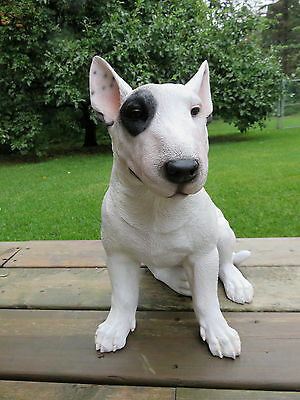"English Bull Terrier Dog Figurine Statue Resin Pet  16"" L 10.25"" W 15.75"" H"