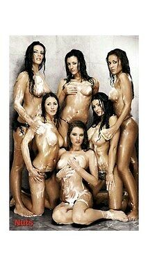 NUTS ~ SOAPY SHOWER GIRLS 24x36 PINUP POSTER NEW/ROLLED!