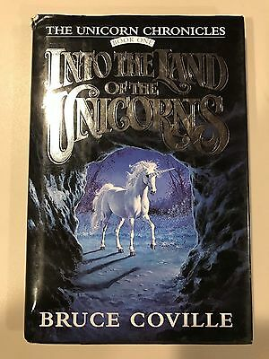 Vintage 1St Edition Book Bruce Coville Into The Land Of Unicorns Hard Cover