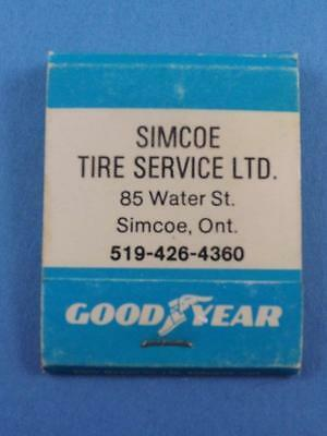 Good Year Simcoe Tire Service Matchbook Vintage Advertising Ont Canada