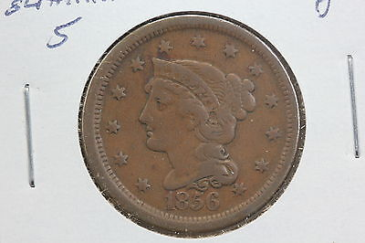 1856 Large Cent F Upright 5's