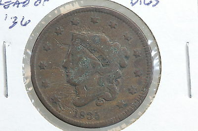 1835 Large Cent G Head of 1836