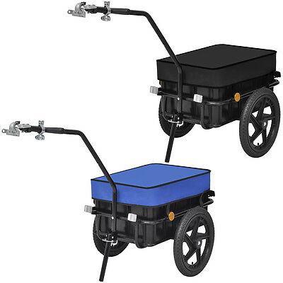 Versatile Bike Cargo Trailer/Hand Wagon Bicycle Carrier Transport 70L Black/Blue