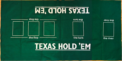 27531 2 In 1 Felt Texas Holdem' Poker And Blackjack Layout Mat Casino Card Games