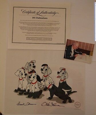 "NEW Disney Sericel ""Puppy Disguise"" SIGNED Thomas Johnston 101 Dalmatians Cel"