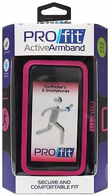 TZUMI Lightweight PROFIT ACTIVE ARMBAND Black+Pink FOR SMARTPHONE Adjustable NEW