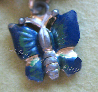 Girl Scout CHARM, BUTTERFLY for NATURE Outdoors 1950s Activity Bracelet EUC
