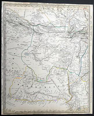 1835 SDUK Old, Antique Large Map of Pakistan, Afghanistan Parts of Iran & India