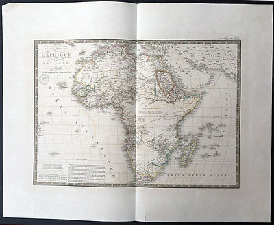 1834 Brue Very Large Antique Map of Africa