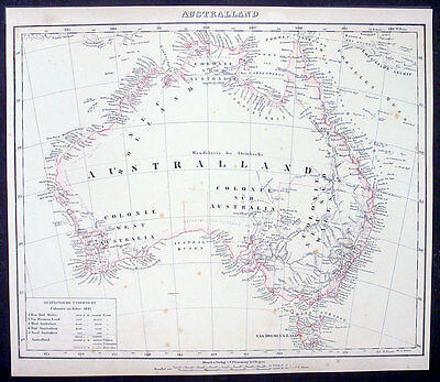 1841 Flemming Antique Map of Australia - New Holland