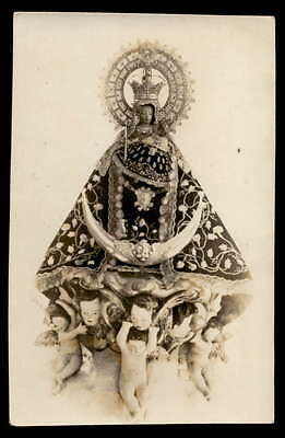 VIRGIN OF THE MOUNTAIN - PATRONESS OF CÁCERES Vtg REAL PHOTO HOLY CARD