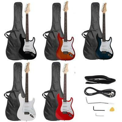 "39.37"" Beginner Sunset Electric Guitar +Bag Case +Cable +Strap +Picks 7 Color"