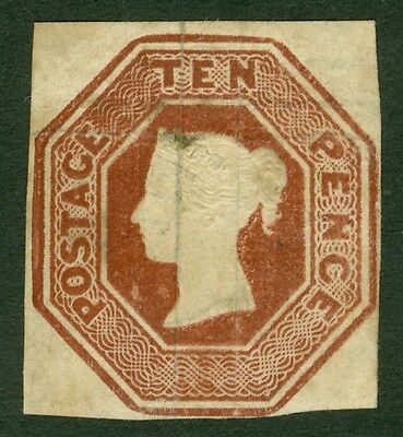 SG 57 10d brown. Mint CAT £11,500. Full margins, close to good. Nice deep...
