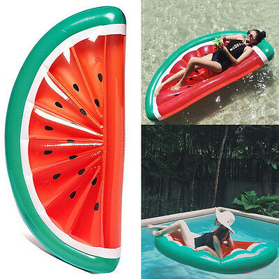 Giant Inflatable Watermelon Fruit Slice Swimming Pool Float Water Fun Toy Raft