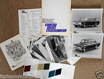 Fiat 125 Special Large Press Pack Photograph x 7 Paint Chart 1968 Italian