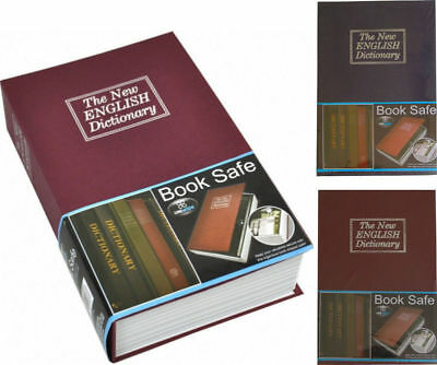 Hidden Safe Book with Secret Compartment Metal Key Lockable Lock Security Box