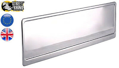 Mercedes SLK Class Silver Stainless Steel Number Plate Surround Universal