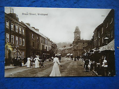 Welshpool: Broad Street - Scarce 1912 Real Photo Postcard!