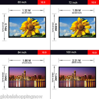 Pantalla de proyector Portable 120/100/84/72/60 inch projector screen 16:9 ES