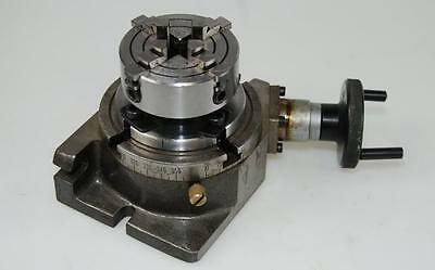 Precision Rotary Table 100Mm With 70 Mm 4 Jaw Chuck