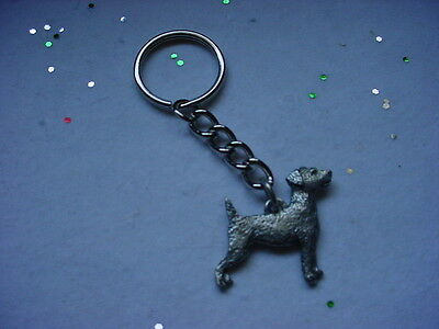 JACK RUSSELL TERRIER dog PEWTER Silver KEYCHAIN /CHRISTMAS ORNAMENT Key Ring NEW