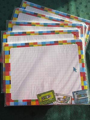 NEW 5 Mouse Pads Notepad memo Mouse Pad you can write on 100 sheets Retro design
