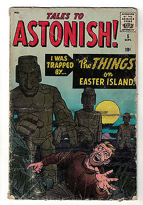 TALES TO ASTONISH  Marvel comics  5 VG- 3.0 1959  Atlas the things Easter island