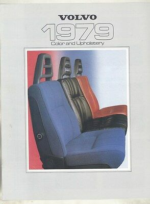 1979 Volvo 242 244 245 242GT 262C 264GL 265GL Paint & Upholstery Brochure my7155