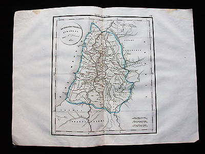 1831 VAUGONDY - DELAMARCHE: rare map of ASIA MINOR, ISRAEL, SYRIA, MIDDLE EAST..