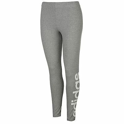 adidas Womens Linear Tights Pants Trousers Bottoms Sports Training Elastic