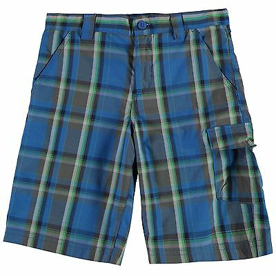 Columbia Kids S Ridge Shorts Trousers Pants Bottoms Junior Boys Check Summer
