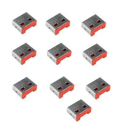 Data Theft USB Port Blockers/Locks (without Key) - Pack of 40 locks - Red