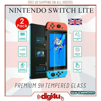Premium 9H Tempered Glass Shockproof Screen Protector Cover for Nintendo Switch