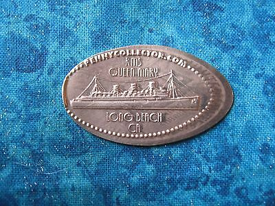 RMS QUEEN MARY LONG BEACH CA COPPER Elongated Penny Pressed Smashed 24