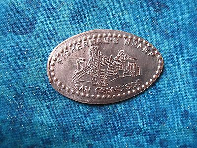 FISHERMAN'S WHARF SAN FRANCISCO Elongated Penny Pressed Smashed 24