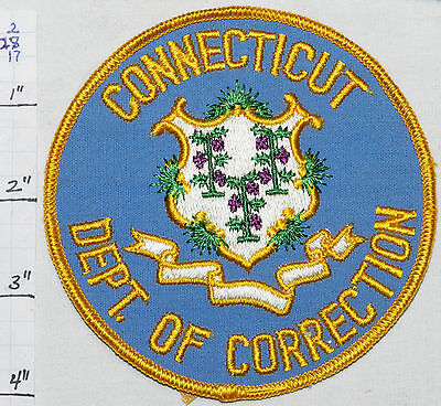Connecticut Dept Of Correction Round Vintage Police Blue Patch