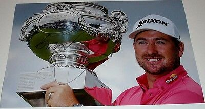 GRAEME McDOWELL GOLF PERSONALLY HAND SIGNED AUTOGRAPH 12X8 PHOTO