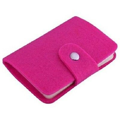 NEW Pink Felted Wool ID Credit Card Shopping Business Card Holder Wallet