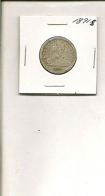 1891-S 90% Silver Seated Liberty Quarter Dollar!