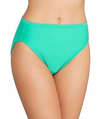 Vanity Fair Hi-Cut Panties 13315 Comfortable Cotton-Blend Eve's Garden Green NEW