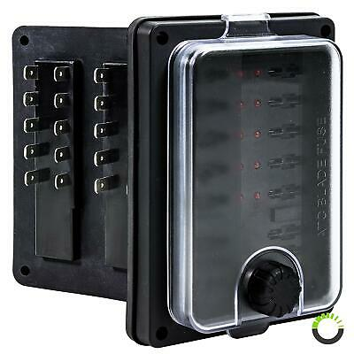 12V - 32V DC 250A 10 Way Waterproof Fuse Box Block for Automotive Auto Boat