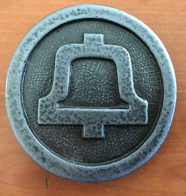 VINTAGE 1970s BELL SYSTEM AT&T TELEPHONE COMPANY Pewter BELT BUCKLE