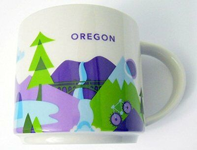"Starbucks Coffee Mug OREGON ""You Are Here Collection"" YAH 2015 New in Box"