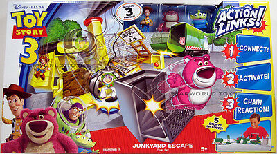 Toy Story 3 JUNKYARD ESCAPE Stunt Set Action Links Playset Disney Pixar NIP