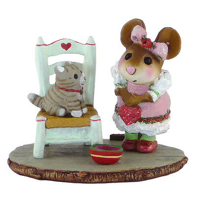 MY VALENTINE KITTY by Wee Forest Folk, WFF # M-431 Valentine Mouse